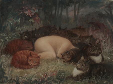 Коты греют Еву после изгнания из Рая