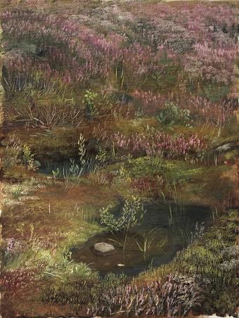 Лесной ручей. Этюд