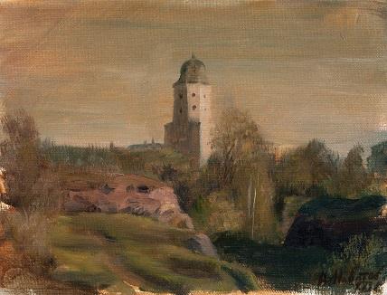 Выборгский замок на закате