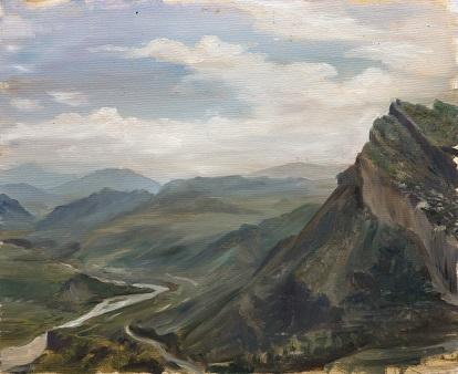 Вид с вершины аула Гуниб