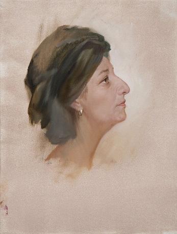 Этюд женской головки