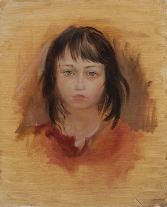 Портрет девочки в красном