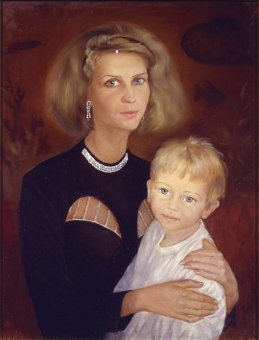 Портрет Наталии Федуриной с сыном Павлом