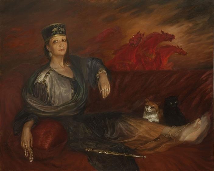 Портрет с красными конями