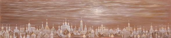 Небесная Москва. Панно