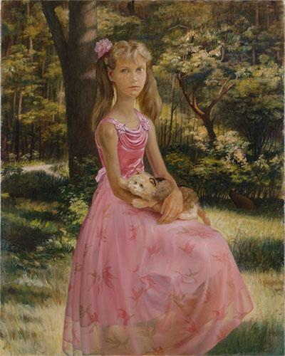 На даче. Портрет девочки