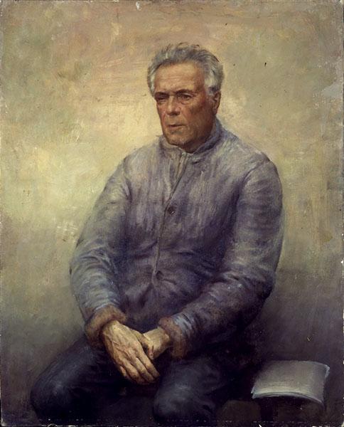 Портрет писателя Виктора Петровича Астафьева